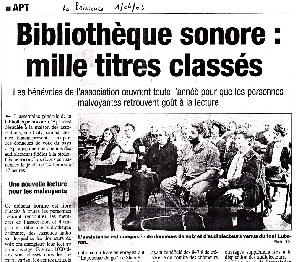 ZOOM : Article de presse haut